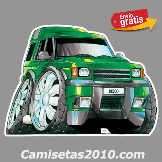 PEGATINA COCHE AUTOMOVIL FAMILIAR 4x4 COLOR VERDE 006