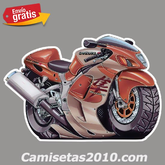 PEGATINA MOTOCICLETA SUZUKI CARRERA COLOR MARRON 011