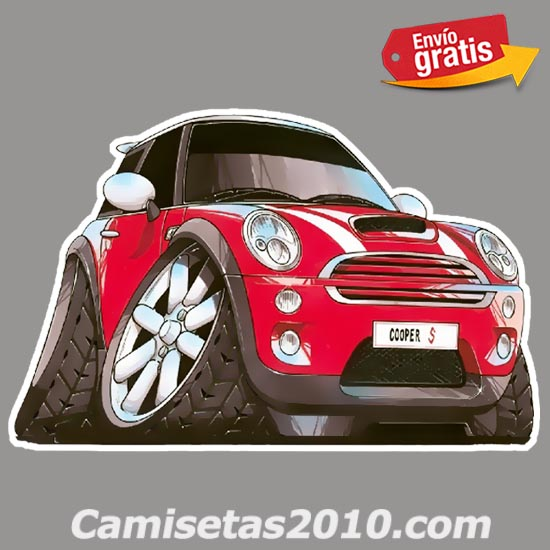PEGATINA VEHICULO MINI COUPE COLOR ROJO 044