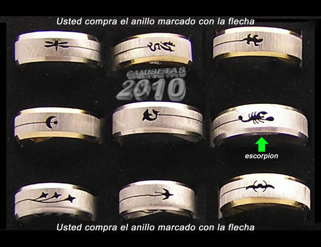 ANILLO ACERO CON SILUETA ESCORPION RECORTADA