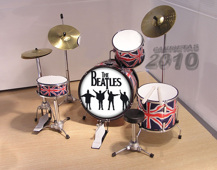 MINI BATERIA MINIATURA REPLICA DEL GRUPO THE BEATLES 05