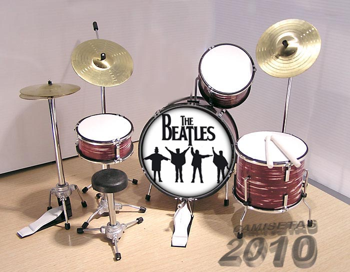MINI BATERIA MINIATURA REPLICA DEL GRUPO THE BEATLES 07