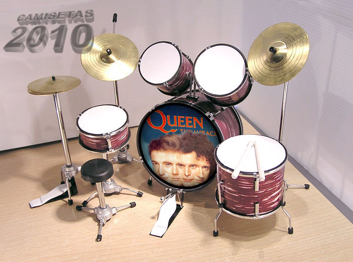.MINI BATERIA MINIATURA REPLICA DEL GRUPO ROCK QUEEN 04
