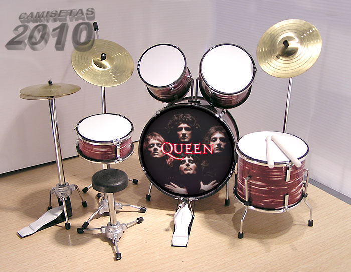 .MINI BATERIA MINIATURA REPLICA DEL GRUPO ROCK QUEEN 06