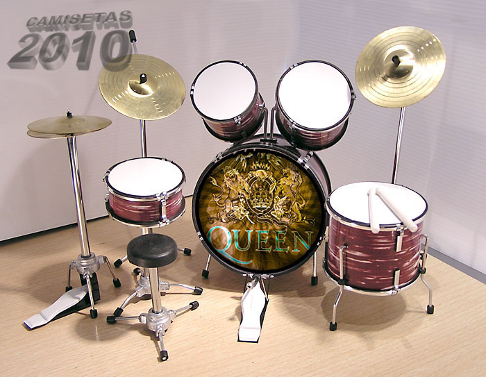 .MINI BATERIA MINIATURA REPLICA DEL GRUPO ROCK QUEEN 07