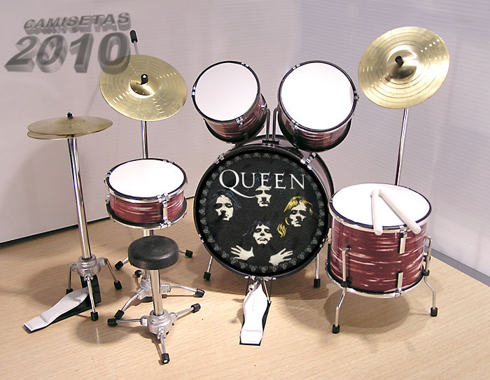 .MINI BATERIA MINIATURA REPLICA DEL GRUPO ROCK QUEEN 08