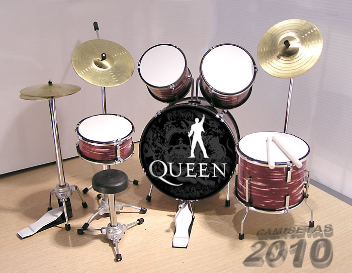 .MINI BATERIA MINIATURA REPLICA DEL GRUPO ROCK QUEEN 00