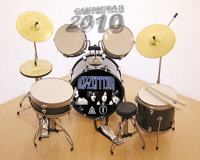 MINI BATERIA MINIATURA REPLICA DEL GRUPO LED ZEPPELIN 03