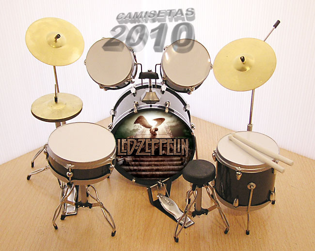 MINI BATERIA MINIATURA REPLICA DEL GRUPO LED ZEPPELIN 04