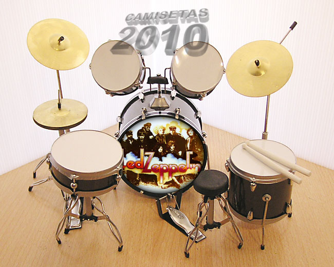 MINI BATERIA MINIATURA REPLICA DEL GRUPO LED ZEPPELIN 05