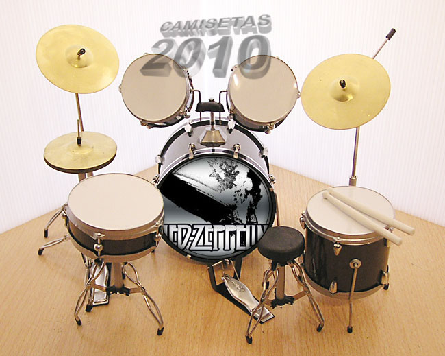 MINI BATERIA MINIATURA REPLICA DEL GRUPO LED ZEPPELIN 06