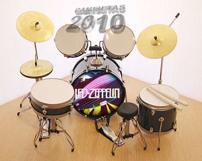 MINI BATERIA MINIATURA REPLICA DEL GRUPO LED ZEPPELIN 07