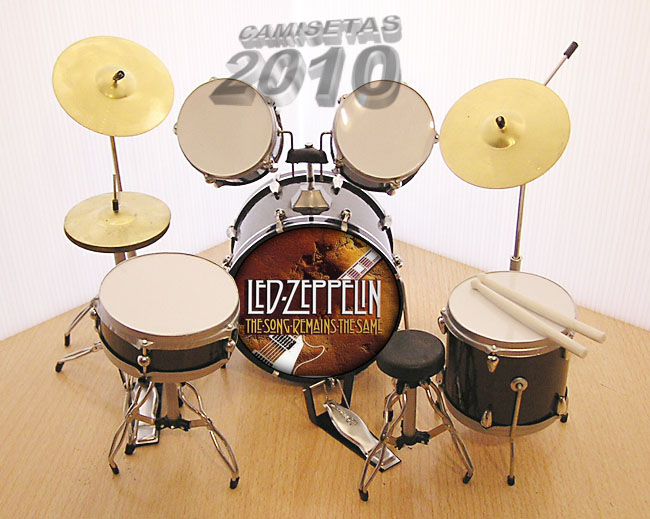 MINI BATERIA MINIATURA REPLICA DEL GRUPO LED ZEPPELIN 09