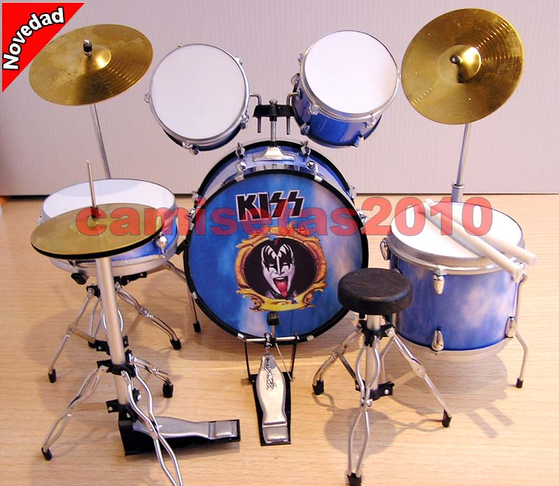 MINI BATERIA MINIATURA REPLICA DEL GRUPO ROCK KISS 01