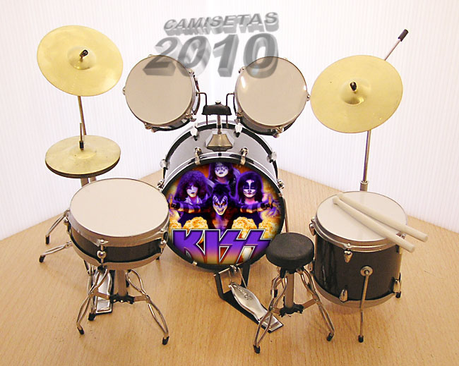MINI BATERIA MINIATURA REPLICA DEL GRUPO ROCK KISS 03