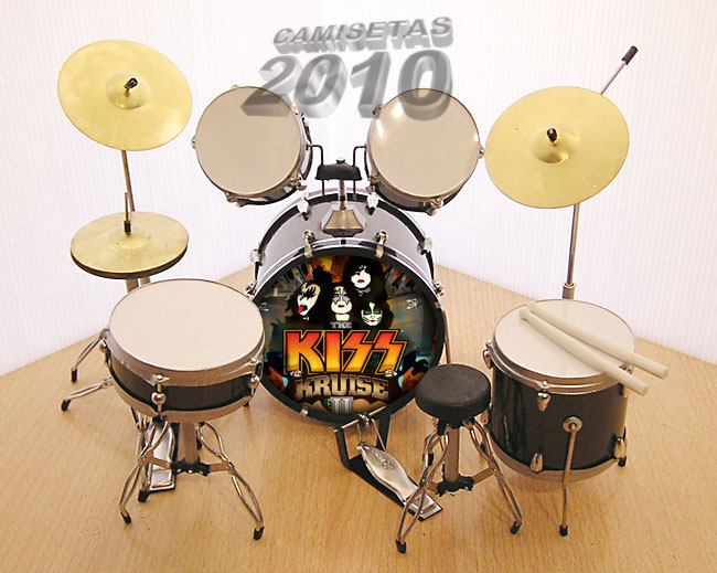 MINI BATERIA MINIATURA REPLICA DEL GRUPO ROCK KISS 04