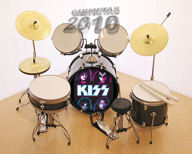 MINI BATERIA MINIATURA REPLICA DEL GRUPO ROCK KISS 05