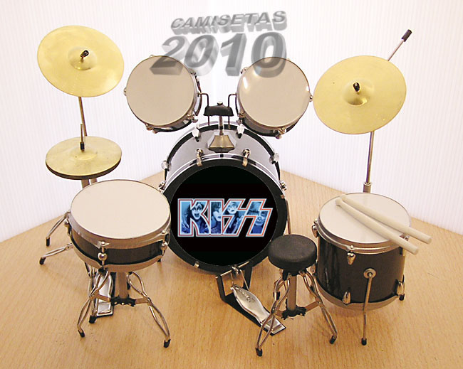MINI BATERIA MINIATURA REPLICA DEL GRUPO ROCK KISS 06
