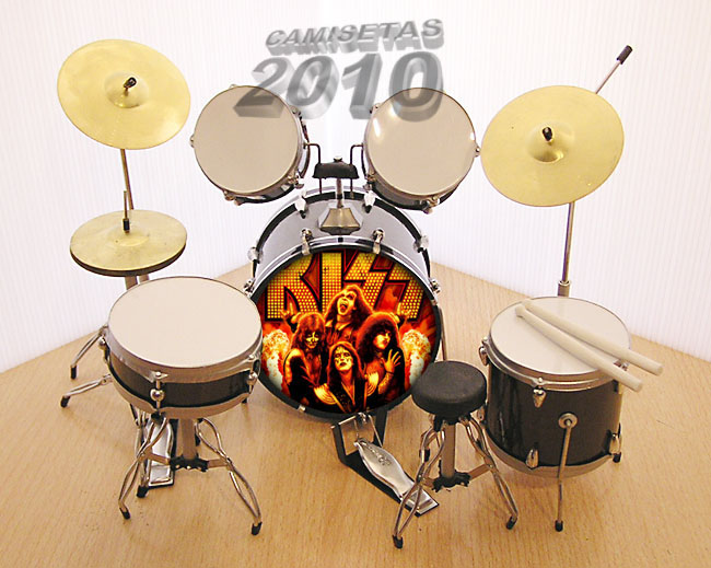 MINI BATERIA MINIATURA REPLICA DEL GRUPO ROCK KISS 07