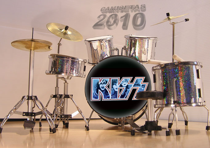.MINI BATERIA MINIATURA REPLICA DEL GRUPO ROCK KISS 12