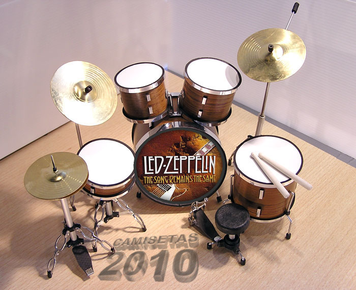 .MINI BATERIA MINIATURA REPLICA DEL GRUPO LED ZEPPELIN 01