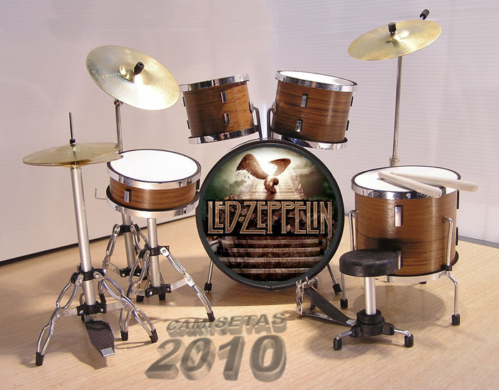 .MINI BATERIA MINIATURA REPLICA DEL GRUPO LED ZEPPELIN 10