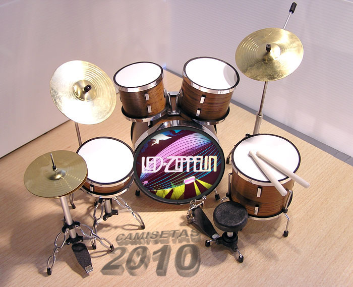 .MINI BATERIA MINIATURA REPLICA DEL GRUPO LED ZEPPELIN 12