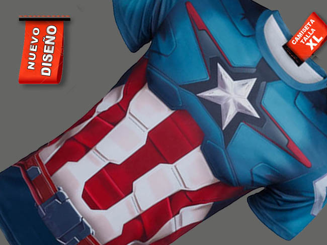 .CAMISETA CAPITAN AMERICA COMIC MARVEL