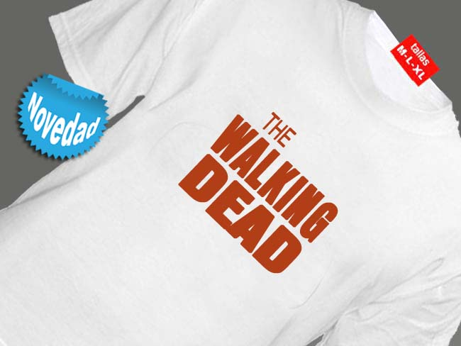 CAMISETA BLANCA SERIE DE TV THE WALKING DEAD