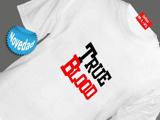 CAMISETA BLANCA SERIE DE TV TRUE BLOOD VAMPIROS