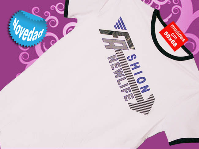 CAMISETA BLANCA CON SERIGRAFIA Y FASHION NEWLIFE
