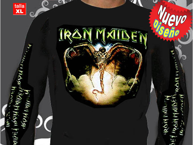 CAMISETA NEGRA IRON MAIDEN MANGA LARGA
