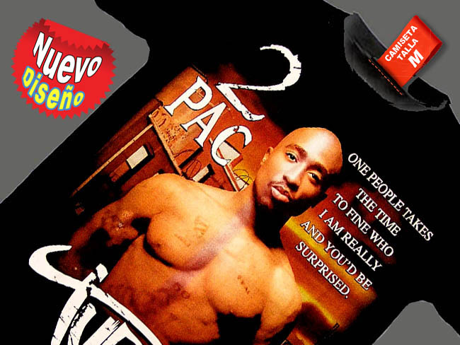 CAMISETA NEGRA 2 PAC ONE PEOPLE TAKES