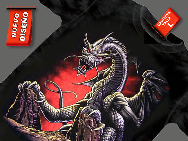 DRAGON EN GRUTA CAMISETA