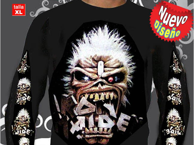 CAMISETA GRUPO ROCK IRON MAIDEN MANGA LARGA-