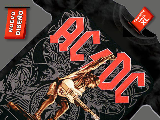 CAMISETA NEGRA AC DC BLACK ICE