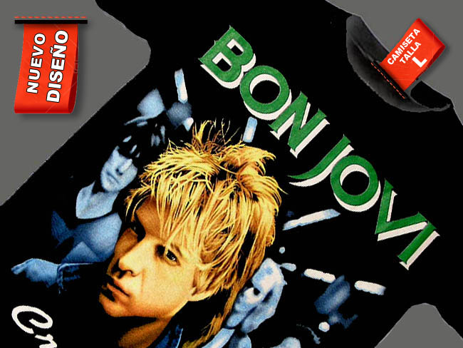 CAMISETA NEGRA BON JOVI CRUSH
