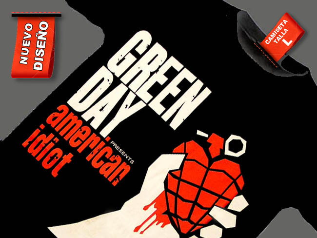 CAMISETA NEGRA GREEN DAY AMERICAN IDIOT