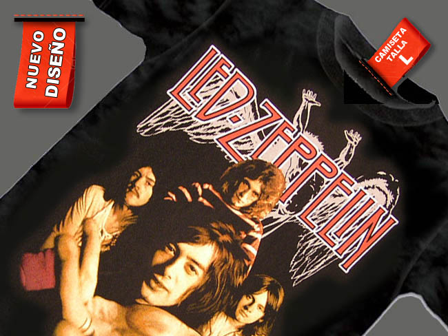 CAMISETA NEGRA GRUPO LED ZEPPELIN