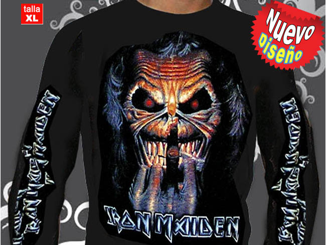 CAMISETA GRUPO ROCKERO IRON MAIDEN MANGA LARGA