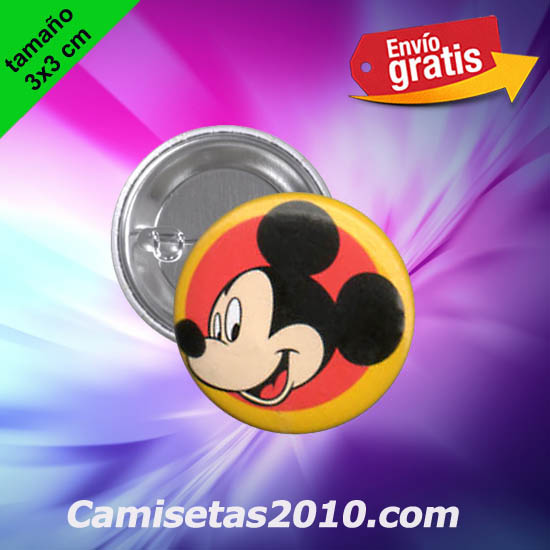CHAPA PINS COLOR 3x3 CABEZA RATON MICKEY-3