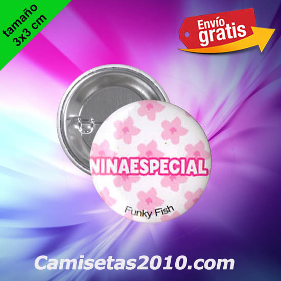 CHAPA PINS COLOR 3x3 NINAESPECIAL