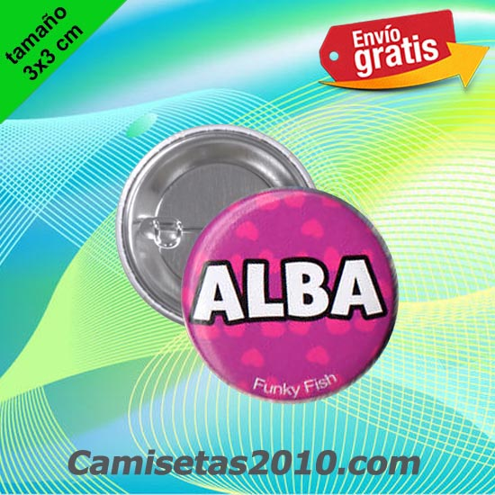 CHAPA PINS COLOR 3x3 ALBA-