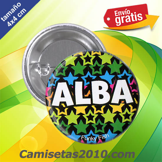 CHAPA PINS COLOR 4x4 ALBA
