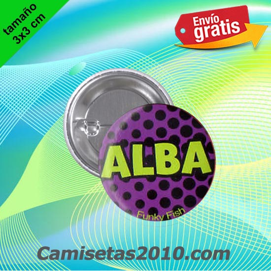 CHAPA PINS COLOR 3x3 ALBA
