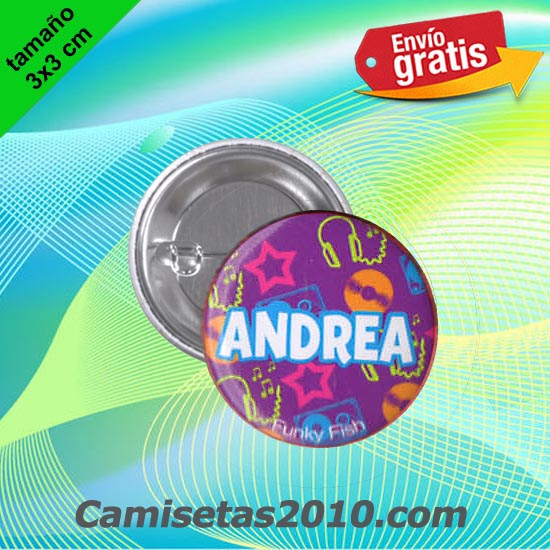 CHAPA PINS COLOR 3x3 ANDREA-