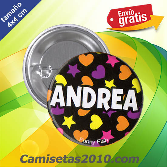 CHAPA PINS COLOR 4x4 ANDREA