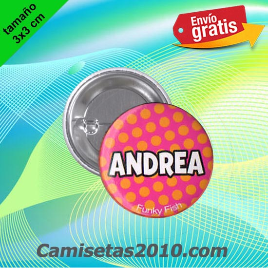 CHAPA PINS COLOR 3x3 ANDREA