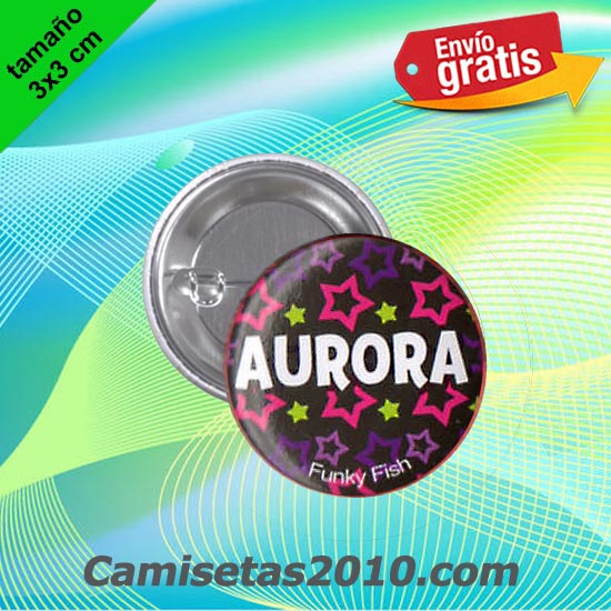 CHAPA PINS COLOR 3x3 AURORA-
