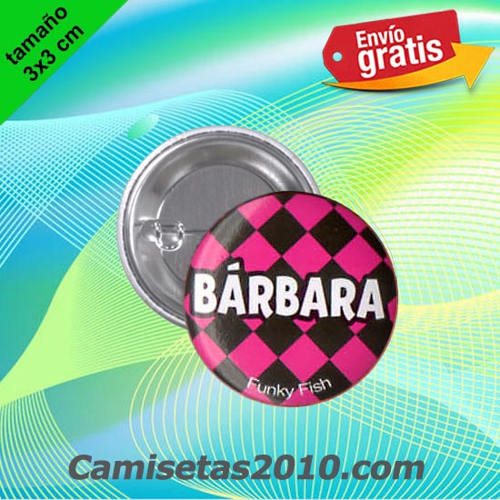 CHAPA PINS COLOR 3x3 BARBARA-